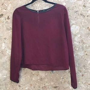 Forever21 maroon blouse